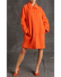 Moschino | Orange Dry Clean Only Long Jacket | Lyst