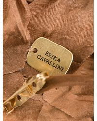 Erika Cavallini Semi Couture - Brown Flower Pin Broach - Lyst