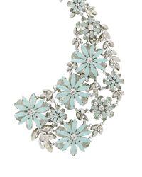 BCBGMAXAZRIA - Blue Floral Peter Pan Collar Necklace - Lyst