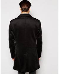 Antony Morato | Black Ntony Morato Neoprene Overcoat for Men | Lyst