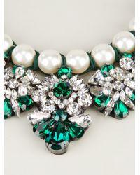 Shourouk - Green Marisa Emerald Embellished Necklace - Lyst
