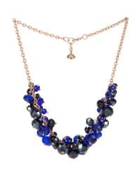 Ted Baker | Blue Bead Cluster Necklace | Lyst