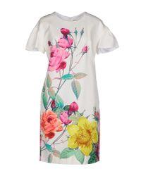 P.A.R.O.S.H. | White Short Dress | Lyst