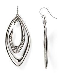 Alexis Bittar - Metallic Crystal Encrusted Asymmetrical Orbiting Link Earrings - Lyst