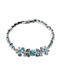 Givenchy - Blue Swarovski Crystal Cluster Bracelet - Lyst