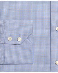 Brooks Brothers - Blue Extra-slim Fit Mini Check Dress Shirt for Men - Lyst