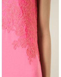 Ermanno Scervino - Pink Floral Embroidered Top - Lyst