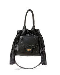 Steven by Steve Madden | Black Luella Faux Leather Shoulder Bag | Lyst