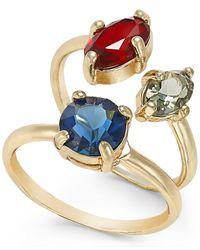 ABS By Allen Schwartz - Blue 3 Stone Ring Set - Lyst