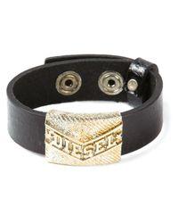 DIESEL | Black Logo Detail Bracelet for Men | Lyst