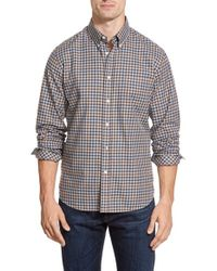 Billy Reid - Blue 'tuscumbia' Standard Fit Check Twill Sport Shirt for Men - Lyst