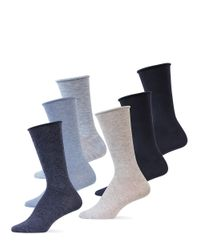 Pink Pony | Blue 6-pack Roll Top Polo Trouser Socks | Lyst