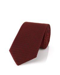 HUGO - Red Silk Tie: 'tie 6 Cm' for Men - Lyst