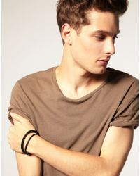 Simon Carter - Brown Exclusive Asos Woven Leather Bracelet for Men - Lyst