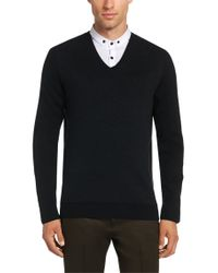 HUGO | Gray Sweater In A Cotton Blend With Silk And Cashmere: 'shermor' for Men | Lyst