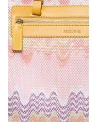 Missoni - Pink Knit Beach Bag - Lyst