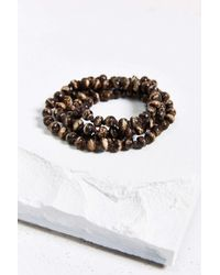 Urban Outfitters - Brown Tiger Bead Necklace - Lyst