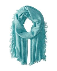 Michael Stars | Blue Plush And Cozy Wrap | Lyst