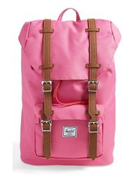 Herschel Supply Co. - Pink 'little America- Mid Volume' Backpack - Lyst