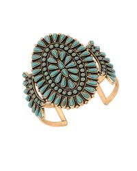 Lucky Brand | Metallic Goldtone Squash Blossom Cuff Bracelet | Lyst