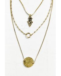 Urban Outfitters - Metallic Collective Charms Layer Necklace - Lyst
