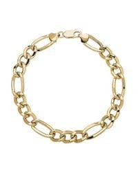 Lord & Taylor - Metallic 14k Yellow Gold Mens Link Bracelet - Lyst