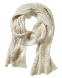 Banana Republic | White Todd & Duncan Cable-knit Cashmere Scarf | Lyst