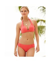 DKNY | Orange Sidetab Cinchback Bikini Bottom | Lyst