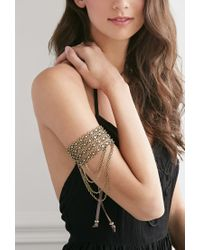 Forever 21 | Metallic Beaded Chain Arm Band | Lyst