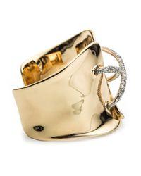 Alexis Bittar - Metallic Crystal Mosaic Corseted Cuff Bracelet - Lyst