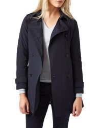 Aquascutum | Natural Murray Double Breasted Wadded Trench | Lyst