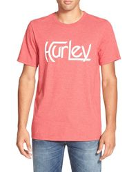 Hurley | Red 'Original - Premium' Graphic T-Shirt for Men | Lyst