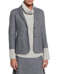 The Row - Gray Naven Wool-jersey Schoolboy Jacket - Lyst
