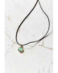 Urban Outfitters | Green Nel Short Tag Necklace | Lyst