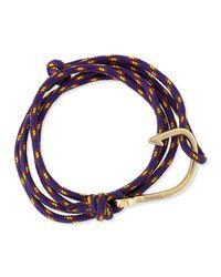Miansai   Purple Hook Rope Bracelet   Lyst