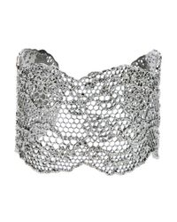 Aurelie Bidermann - Metallic Lace Bracelet - Lyst