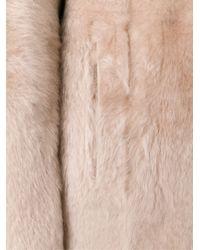 DROMe - Natural Reversible Shearling Coat - Lyst