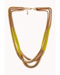 Forever 21 | Yellow Posh Layered Necklace | Lyst