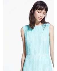 Mango - Blue Sequined Gown - Lyst
