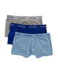 Calvin Klein | Blue Cotton Stretch 3 Pack Trunk for Men | Lyst