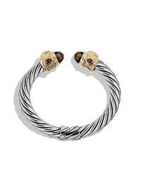 David Yurman | Metallic Renaissance Bracelet With Smoky Quartz, Peridot, And 14k Gold, 10mm | Lyst