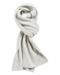 Vince - Gray Ribbed & Marled Cashmere Scarf for Men - Lyst