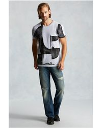 True Religion | Gray Deconstructed Graphic Mens Tee for Men | Lyst