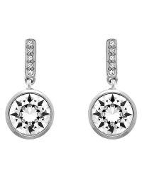 Melissa Odabash | Metallic Swarovski Crystal Round Drop Earrings | Lyst