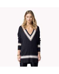 Tommy Hilfiger | Blue Wool Cashmere V-neck Sweater | Lyst