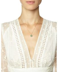 Laura Lee | Green Gold The Satellite Necklace | Lyst