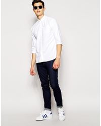 Hilfiger Denim | Brushed Oxford Shirt In White for Men | Lyst