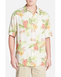 Tommy Bahama - Green 'frond Solo' Original Fit Short Sleeve Sport Shirt for Men - Lyst