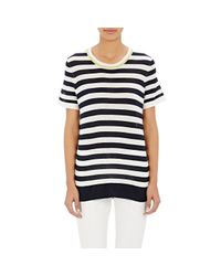 M.Patmos | Blue Striped Short-sleeve Sweater | Lyst