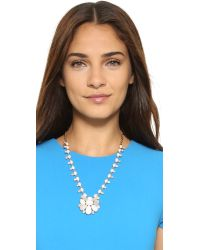 kate spade new york | White Seastone Sparkle Statement Pendant Necklace | Lyst